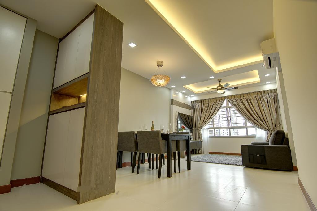 Traditional, HDB, Living Room, Punggol, Interior Designer, Ai Concept