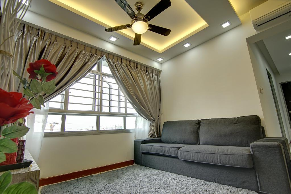 Traditional, HDB, Living Room, Punggol, Interior Designer, Ai Concept, Flora, Jar, Plant, Potted Plant, Pottery, Vase, Couch, Furniture