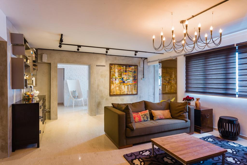 Eclectic, HDB, Living Room, Woodlands (Block 820), Interior Designer, Prozfile Design, Lighting, Coffee Table, Blinds, Couch, Furniture, Indoors, Interior Design, Dining Room, Room