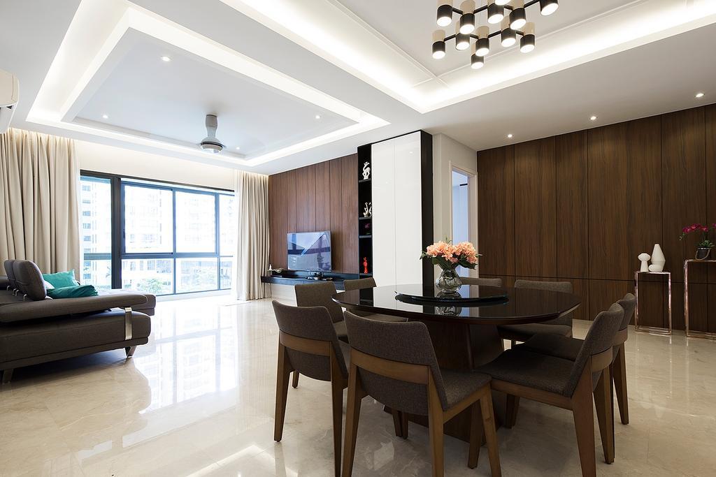Modern, Landed, Dining Room, Concerto, North Kiara, Interior Designer, Box Design Studio Sdn Bhd, Contemporary