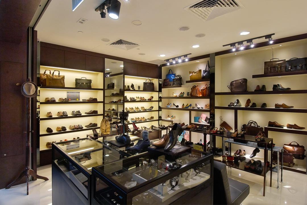 Carl & OAK @ One Raffles Place, Aart Boxx Interior, Modern, Commercial, Shoe Display Table, Shoe Display Shelves