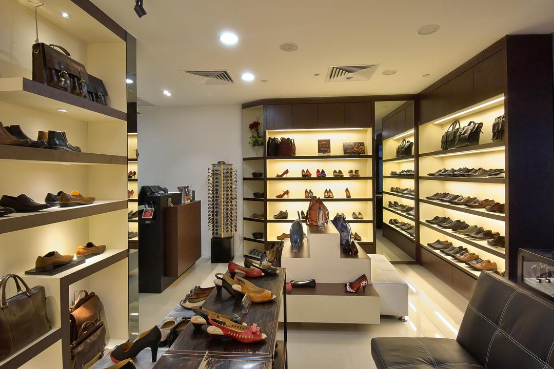 Carl & OAK @ One Raffles Place, Aart Boxx Interior, Modern, Commercial, Open Shelves, Display Tables, Shoe Display Table, Shoe Showcase Table, Shoe Shop, Shop, Appliance, Electrical Device, Oven