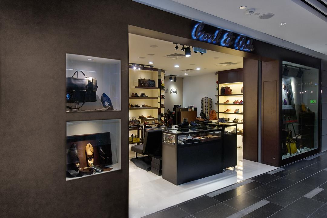 Carl & OAK @ One Raffles Place, Aart Boxx Interior, Modern, Commercial, Glass Display Case, Appliance, Electrical Device, Oven, Shoe Shop, Shop