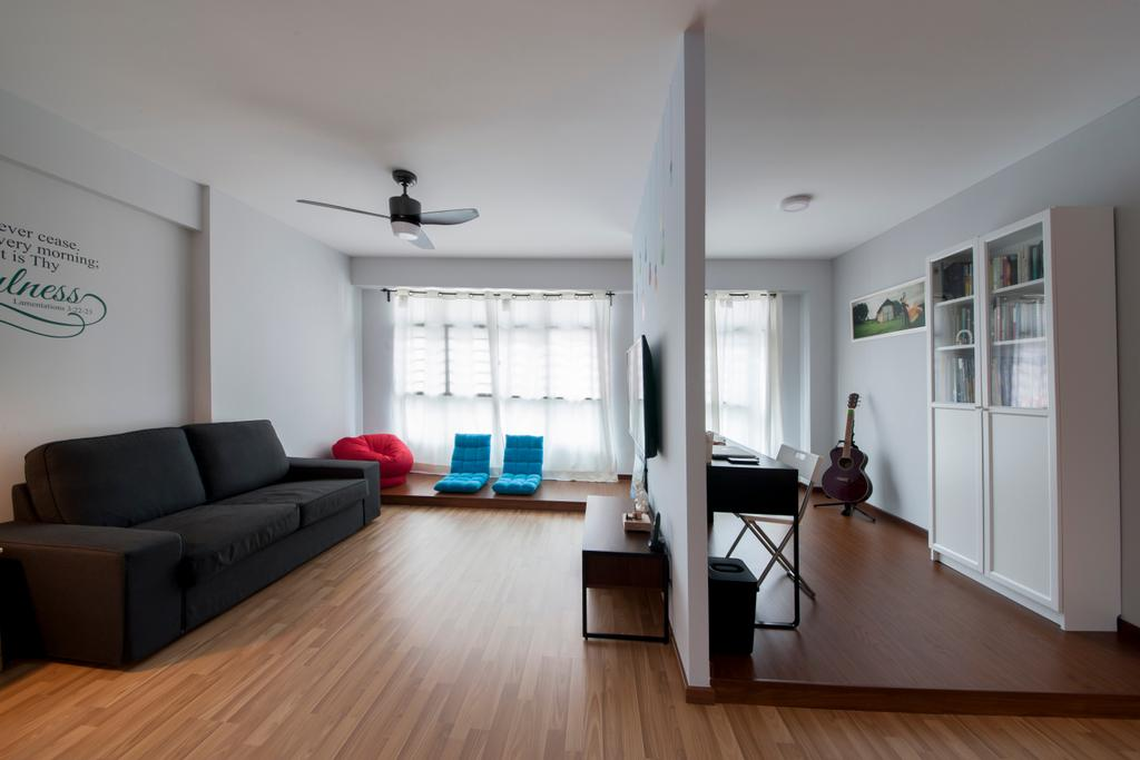 Scandinavian, HDB, Living Room, Keat Hong Quad (Block 815B), Interior Designer, Starry Homestead, Couch, Furniture, Flooring, Indoors, Room