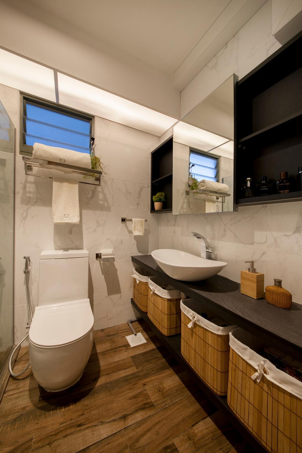 Eclectic, HDB, Bathroom, Punggol Drive (Block 676D), Interior Designer, Hue Concept Interior Design