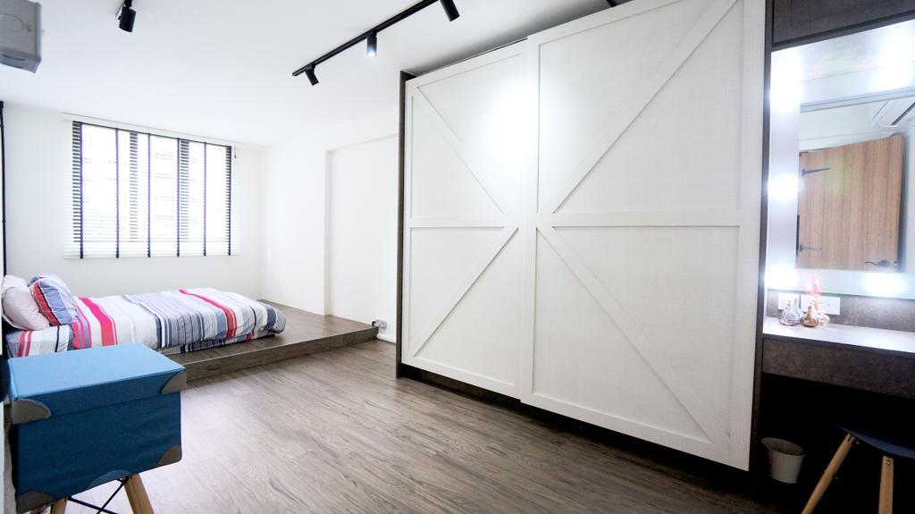 Industrial, HDB, Bedroom, Serangoon, Interior Designer, Space Atelier, Scandinavian