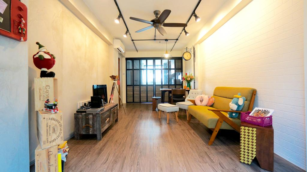 Industrial, HDB, Living Room, Serangoon, Interior Designer, Space Atelier, Scandinavian