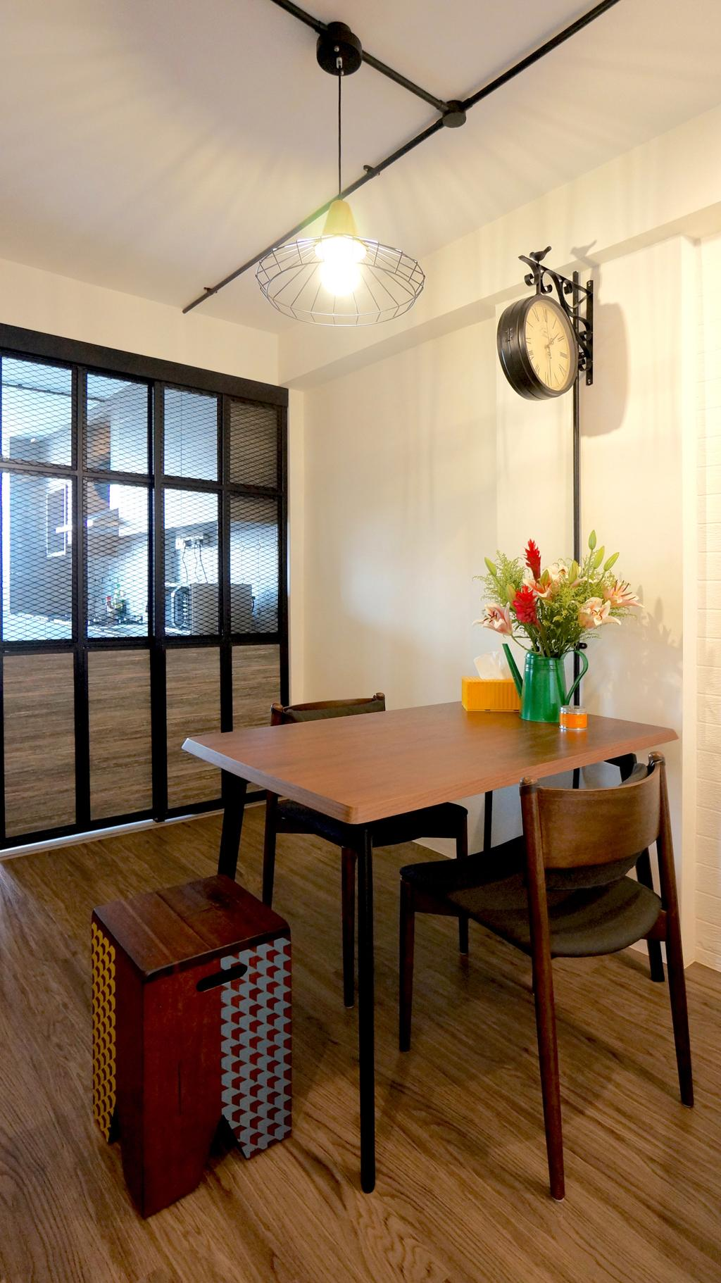 Industrial, HDB, Dining Room, Serangoon, Interior Designer, Space Atelier, Scandinavian