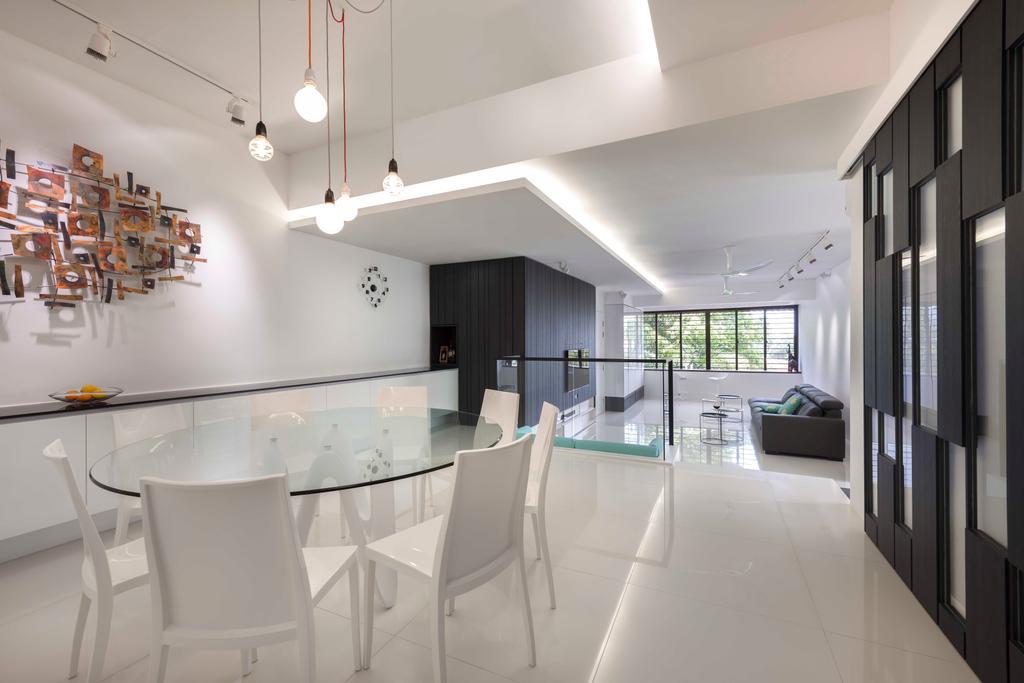 Modern, Condo, Dining Room, Flynn Park, Interior Designer, Prozfile Design, Drop Light, Hanging Light, Art, Chair, Furniture, Indoors, Interior Design, Room, Dining Table, Table