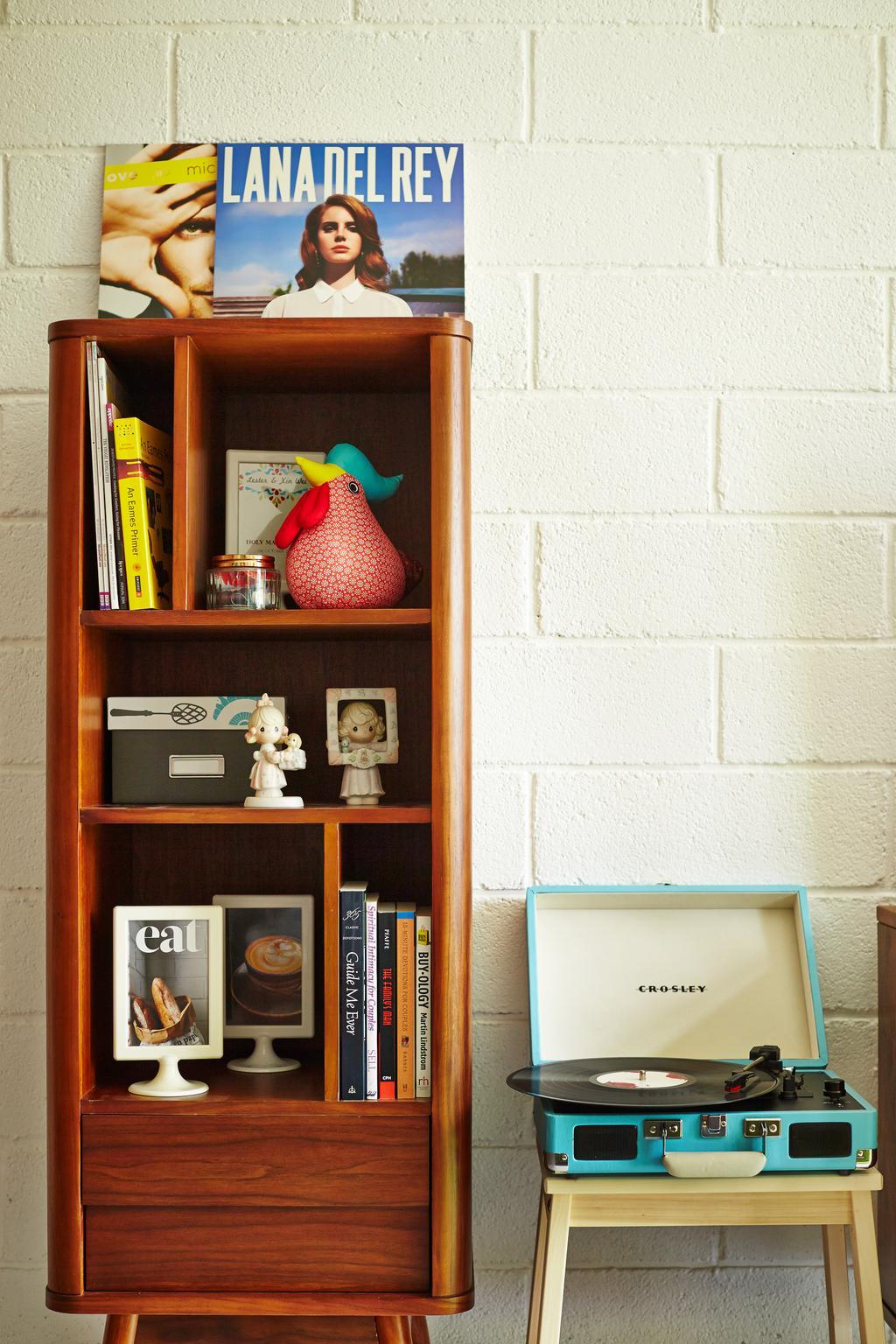 Scandinavian, HDB, Living Room, Segar Road, Interior Designer, Fuse Concept, Retro, Display Unit, Display Storage, Shelf, Figurine, Bookcase, Furniture