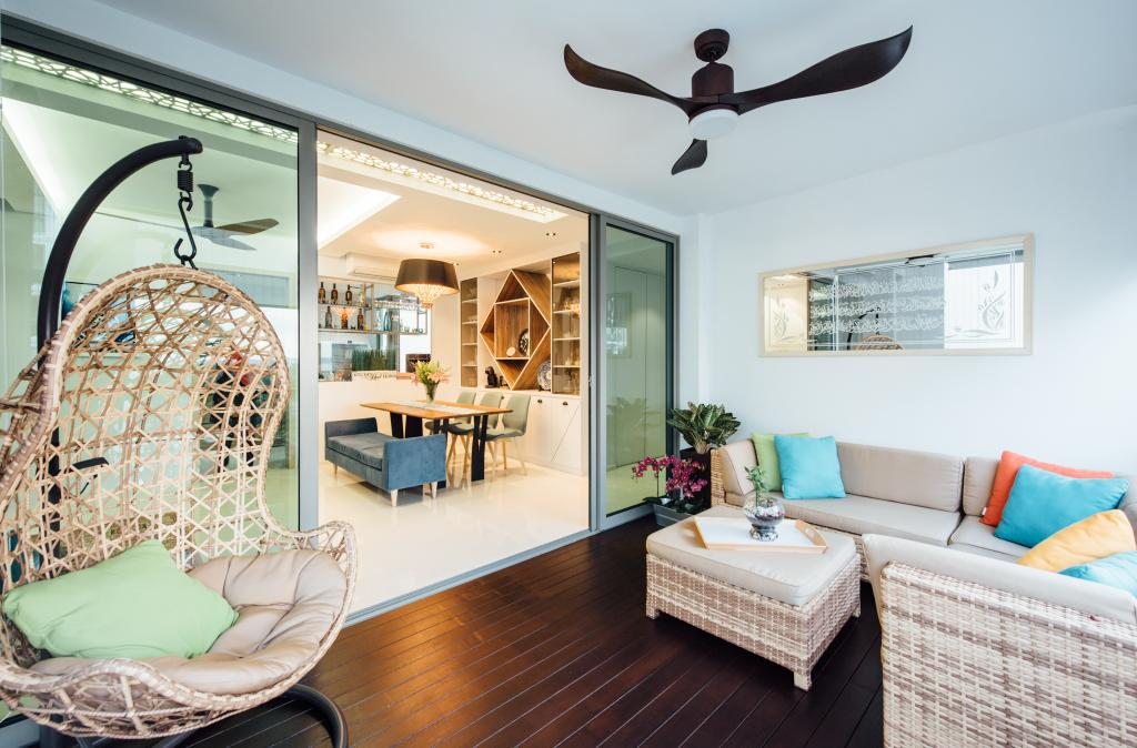 Modern, Condo, Balcony, Ripple Bay, Interior Designer, Fatema Design Studio, Indoors, Interior Design, Animal, Bird, Swallow, Couch, Furniture