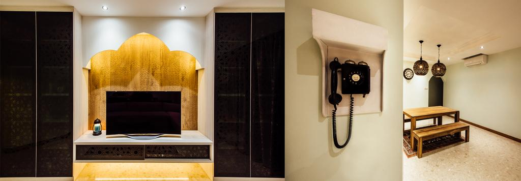 Modern, Condo, Dining Room, Pinevale, Interior Designer, Fatema Design Studio, Dial Telephone, Electronics, Phone, Indoors, Interior Design, Fireplace, Hearth