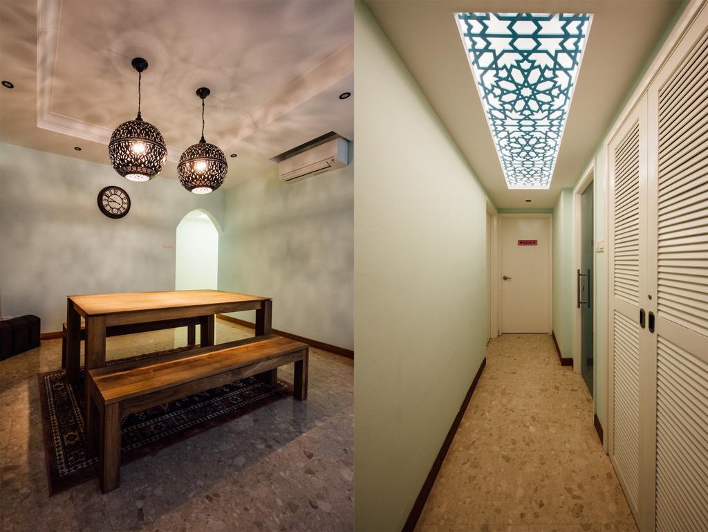 Modern, Condo, Dining Room, Pinevale, Interior Designer, Fatema Design Studio, Corridor, Bench
