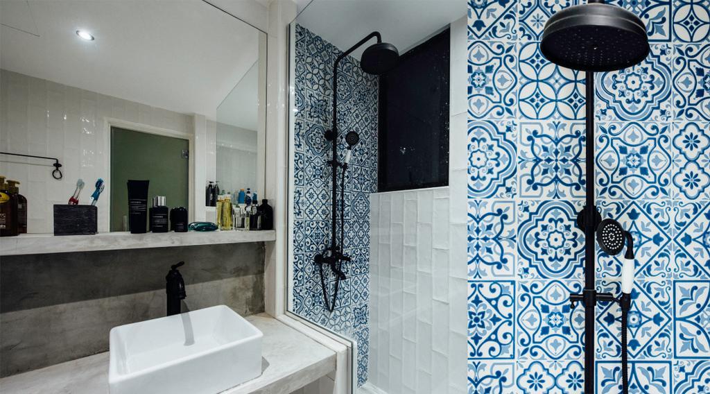 Modern, Condo, Bathroom, Pinevale, Interior Designer, Fatema Design Studio, Indoors, Interior Design, Room