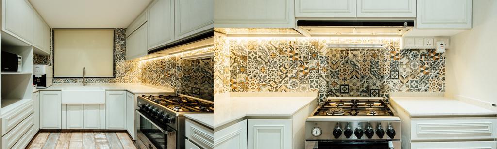 Modern, Condo, Kitchen, Pinevale, Interior Designer, Fatema Design Studio, Appliance, Electrical Device, Oven, Plywood, Wood