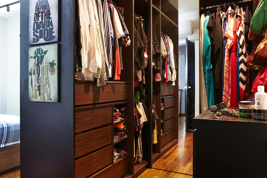 Sunset Way, Fuse Concept, Eclectic, Bedroom, HDB, Wardrobe, Walk In Wardrobe, Photo Booth