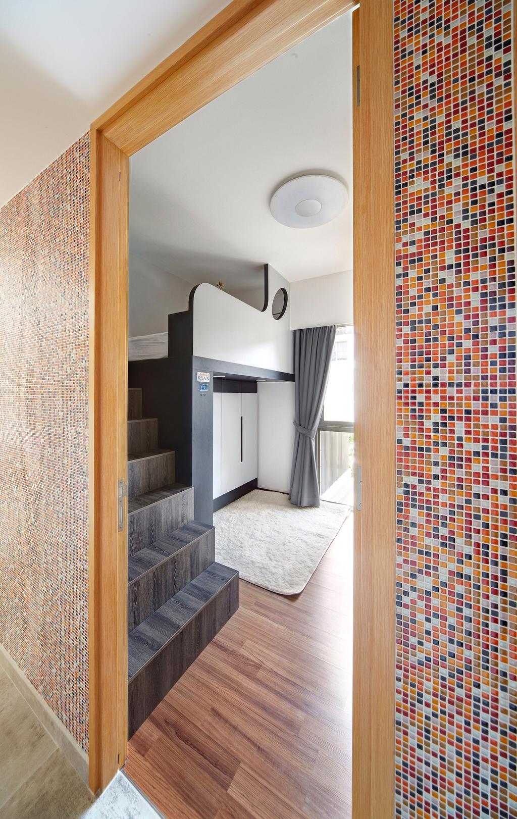 Eclectic, Condo, Bedroom, Terrasse, Interior Designer, Free Space Intent, Retro