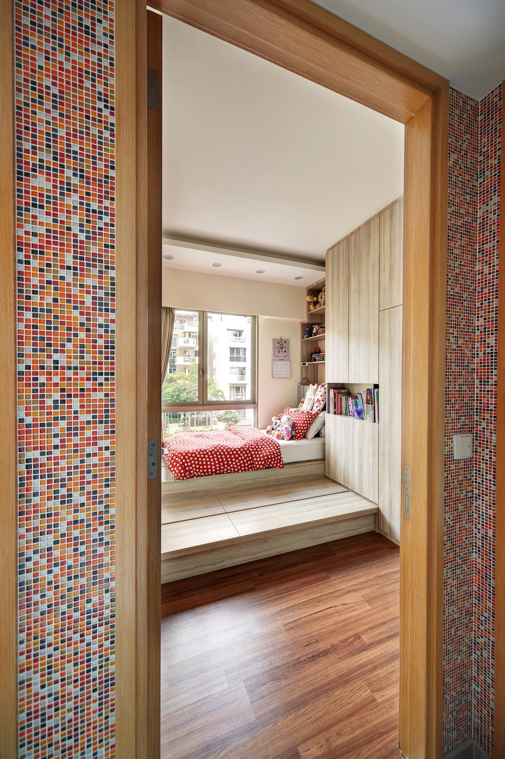 Eclectic, Condo, Bedroom, Terrasse, Interior Designer, Free Space Intent, Retro, Indoors, Room