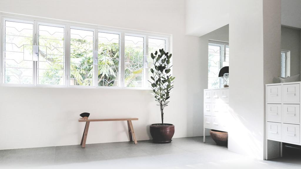 Modern, HDB, Living Room, HOLA, Architect, 0932 Design Consultants, Minimalistic, Window, Flora, Jar, Plant, Potted Plant, Pottery, Vase, Bonsai, Tree