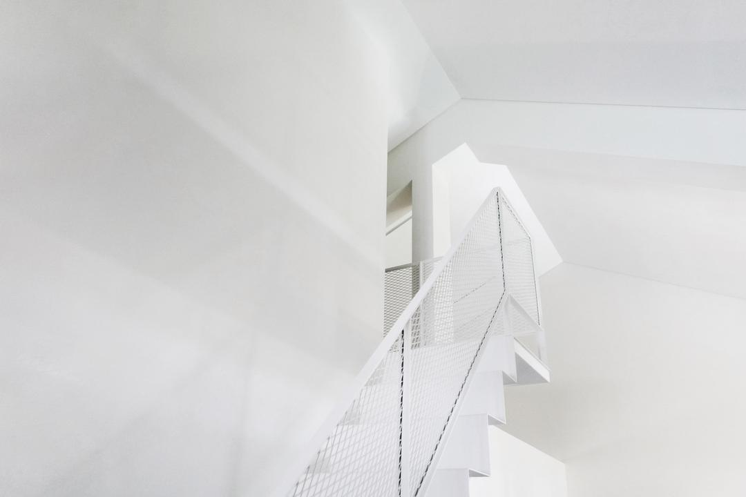 HOLA, 0932 Design Consultants, Modern, Minimalistic, HDB, Stairs, Staircase, Stairways, Paper