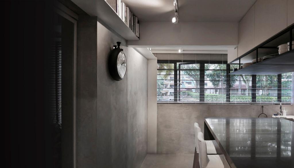 Modern, HDB, Dining Room, 10PM, Architect, 0932 Design Consultants, Hidden Interior Lighting, Marble Floor, Marble Dining Table, Window, Window Shutter