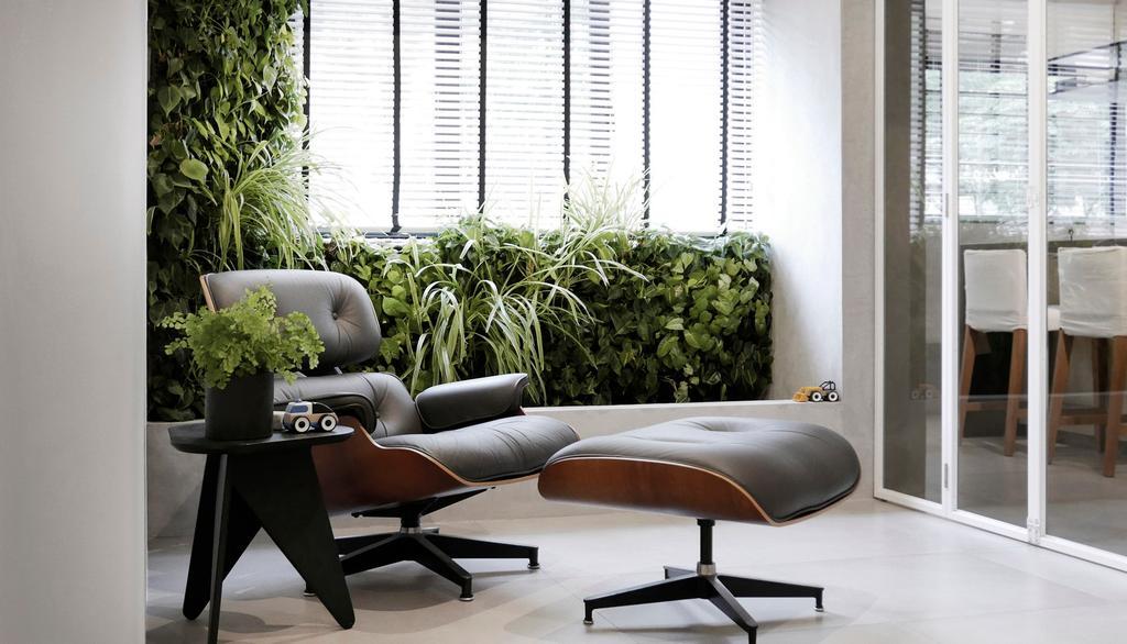 Modern, HDB, Balcony, 10PM, Architect, 0932 Design Consultants, Lounge Chair, Plants, Mini Garden, Garden, Flora, Jar, Plant, Potted Plant, Pottery, Vase, Chair, Furniture