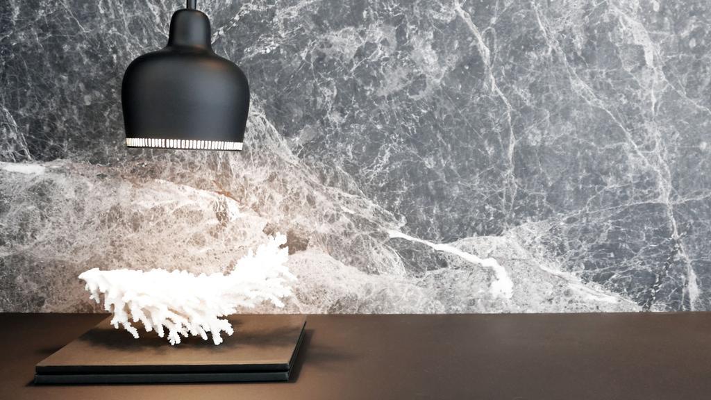 Modern, Condo, Living Room, Villa 7, Architect, 0932 Design Consultants, Minimalistic, Marble Wall, Feature Wall, Marble Print, Marble Feature Wall, Decor Piece, Black Pendant Lamp