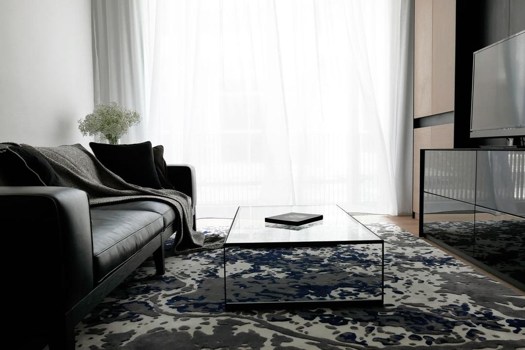 Villa 7, 0932 Design Consultants, Modern, Minimalistic, Study, Condo, Entertainment Room, Nook, Plus Rug, Coffee Table, Floral Centerpiece, Bright And Airy, Throw, Chair, Furniture, Bedroom, Indoors, Interior Design, Room