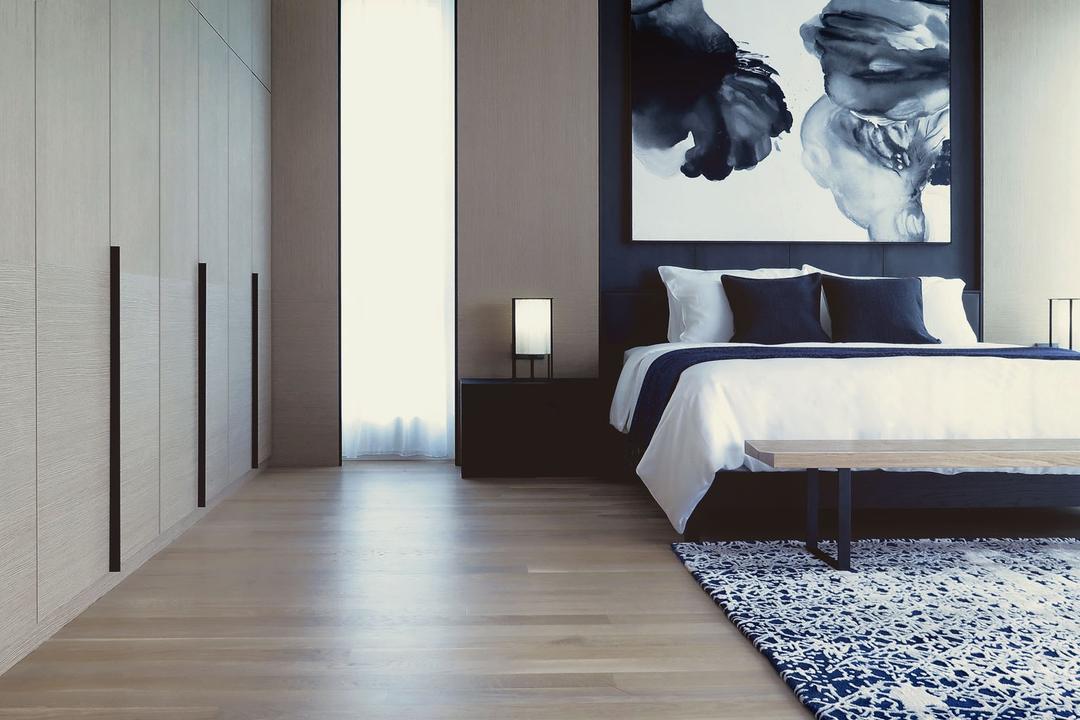 Villa 7, 0932 Design Consultants, Modern, Minimalistic, Bedroom, Condo, Wardrobe Details, Wardrobe Door, Light Wood Touches, Wood Touches, Light Wood, Wardrobe Design, Bed, Furniture, Flooring