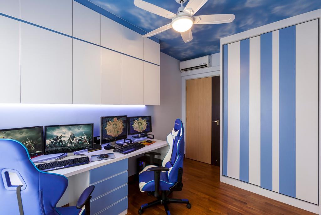 Contemporary, HDB, Study, Anchorvale Horizon (Block 326C), Interior Designer, Absolook Interior Design