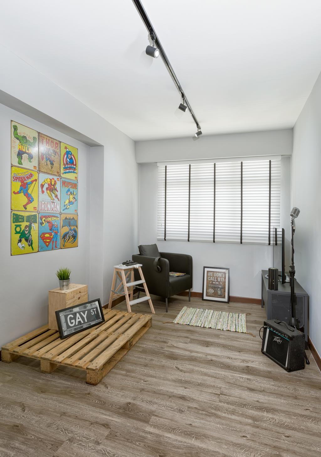 Scandinavian, HDB, Study, Tampines Greenleaf (Block 523C), Interior Designer, Absolook Interior Design, Chair, Furniture