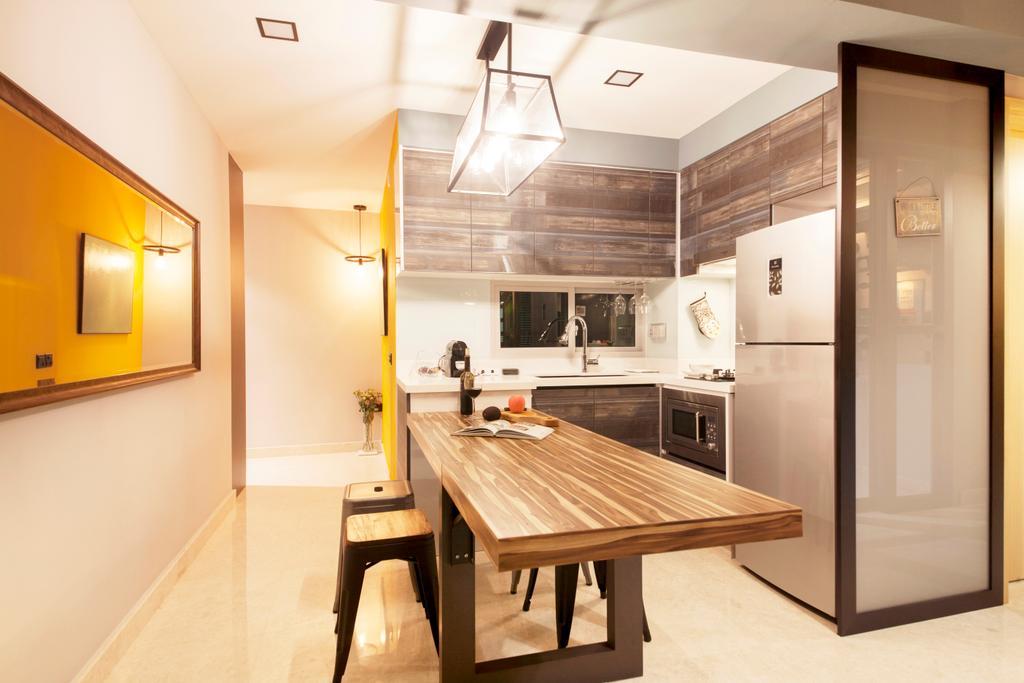Scandinavian, Condo, Dining Room, Eight River Suites, Interior Designer, Space Define Interior, Dining Table, Furniture, Table, Indoors, Interior Design, Room