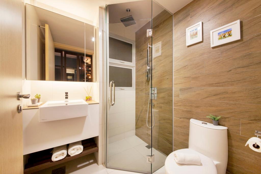 Scandinavian, Condo, Bathroom, Eight River Suites, Interior Designer, Space Define Interior, Indoors, Interior Design, Room