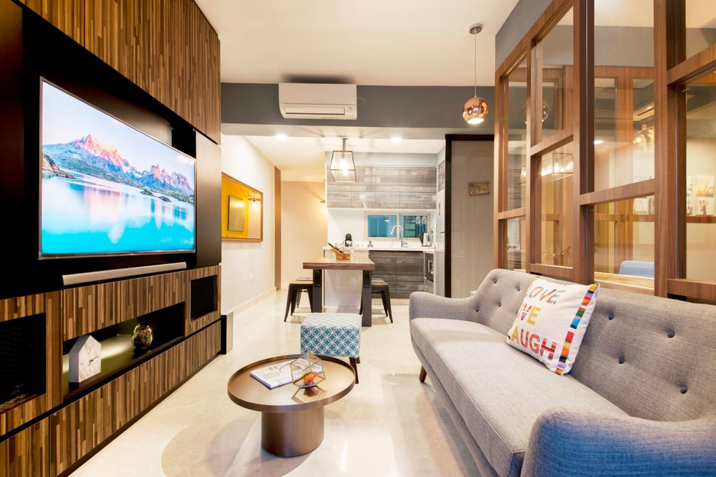 Scandinavian, Condo, Living Room, Eight River Suites, Interior Designer, Space Define Interior, Couch, Furniture, Sink