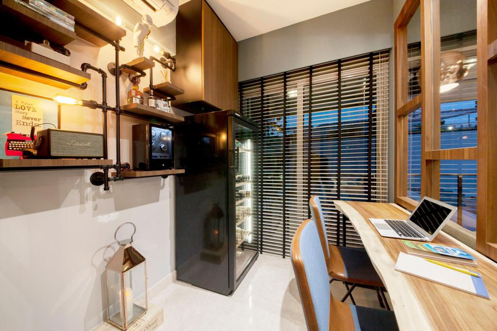 Scandinavian, Condo, Study, Eight River Suites, Interior Designer, Space Define Interior, Chair, Furniture