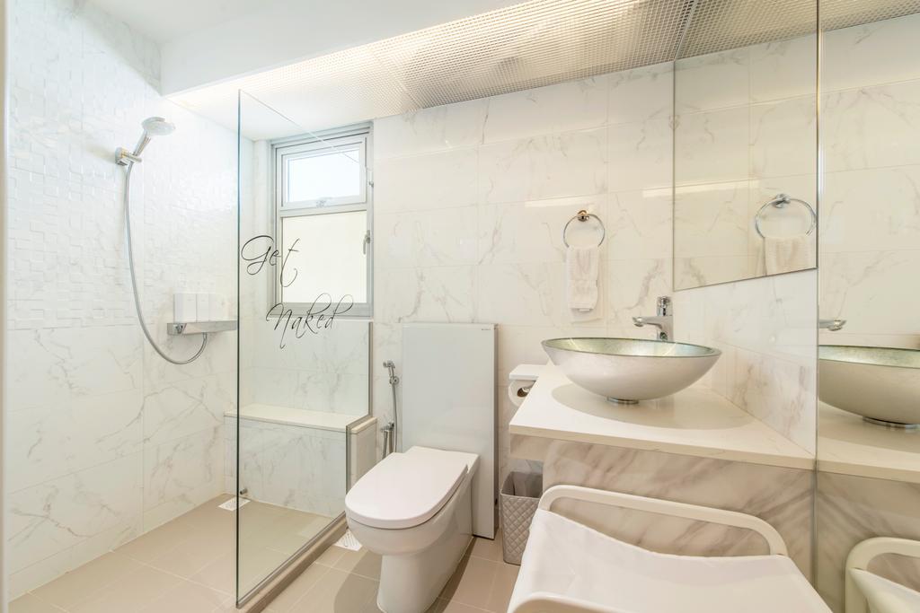 Minimalistic, HDB, Bathroom, Circuit Road, Interior Designer, Space Define Interior, Toilet, Indoors, Interior Design, Room, Sink