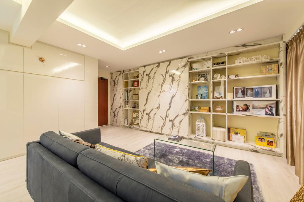 Minimalistic, HDB, Living Room, Circuit Road, Interior Designer, Space Define Interior, Couch, Furniture