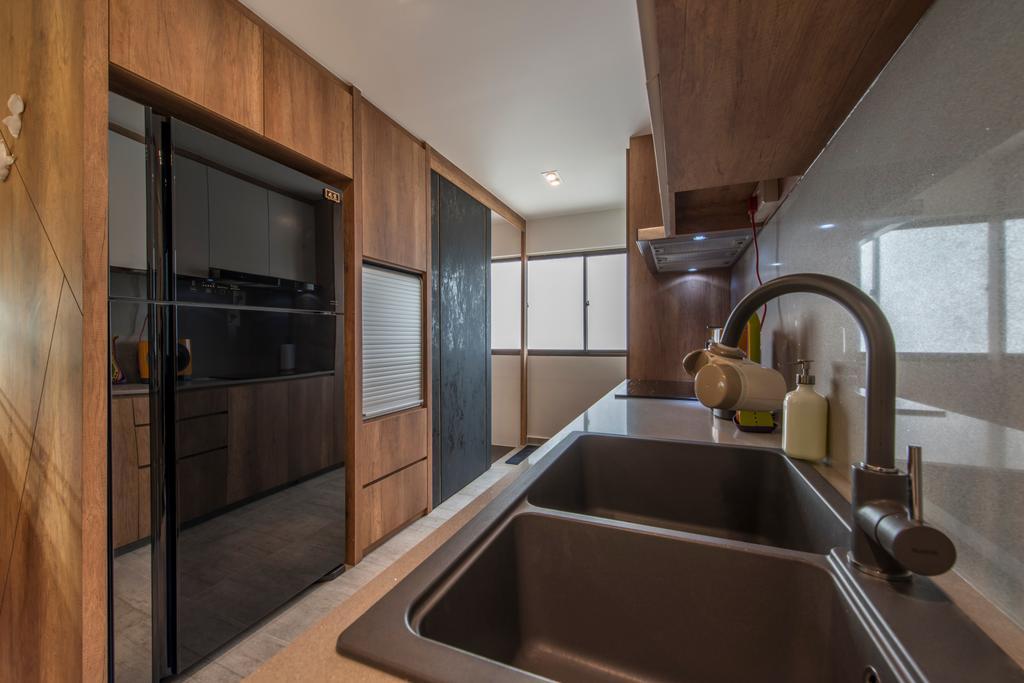 Eclectic, HDB, Kitchen, Towner Road (Block 107), Interior Designer, Meter Square, Sink, Tap, Indoors, Interior Design