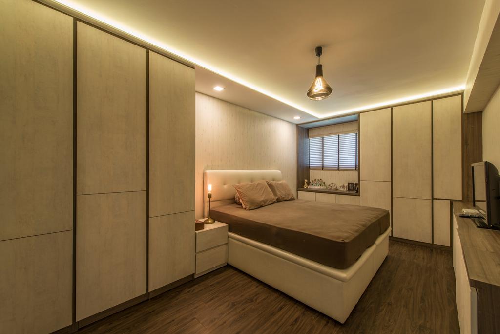 Industrial, HDB, Bedroom, Dover Road (Block 1), Interior Designer, Meter Square, Indoors, Interior Design, Bed, Furniture