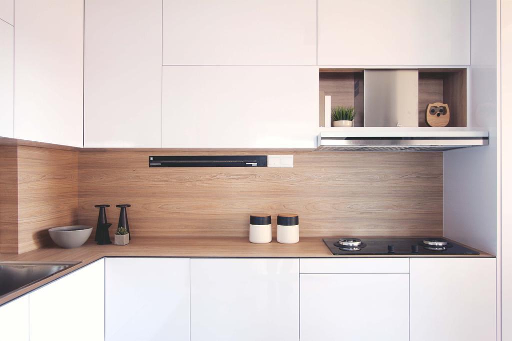 Minimalistic, HDB, Kitchen, Potong Pasir, Architect, FOMA Architects, Indoors, Interior Design, Room