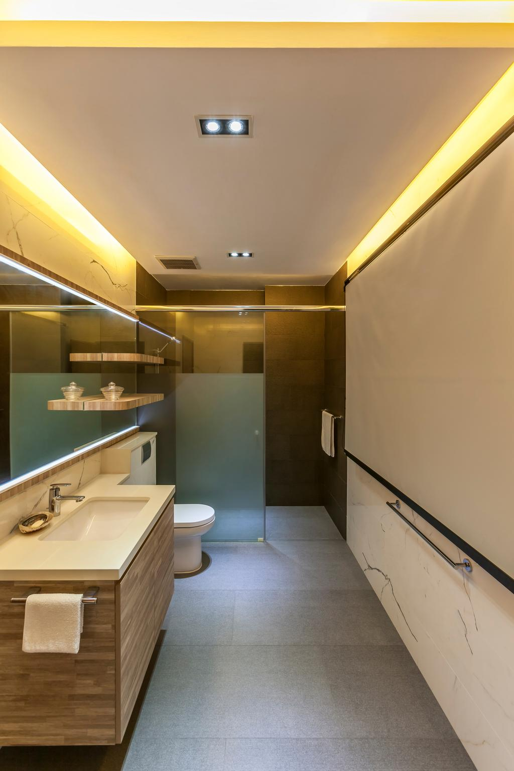 Contemporary, Landed, Bathroom, Maryland Drive, Interior Designer, The Interior Lab, Sink, Toilet, Indoors, Interior Design