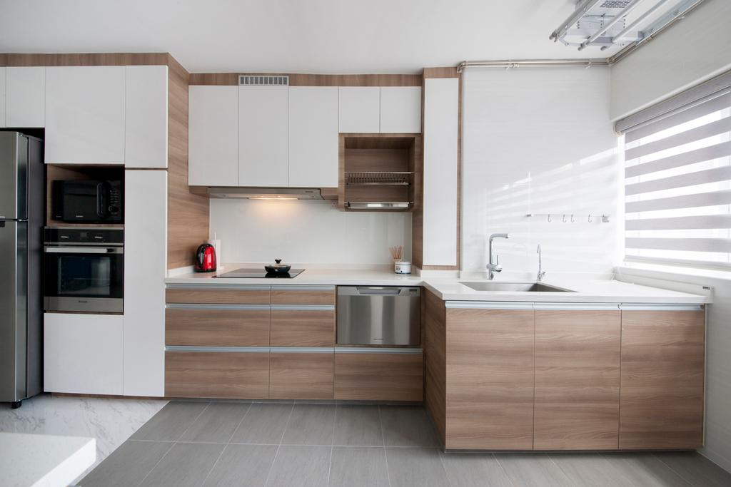 Modern, HDB, Kitchen, Shunfu Road, Interior Designer, Starry Homestead, Appliance, Electrical Device, Oven, Indoors, Interior Design, Room, Furniture, Sideboard