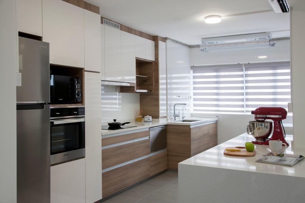 Modern, HDB, Kitchen, Shunfu Road, Interior Designer, Starry Homestead, Appliance, Electrical Device, Oven, Indoors, Interior Design, Room, Sink