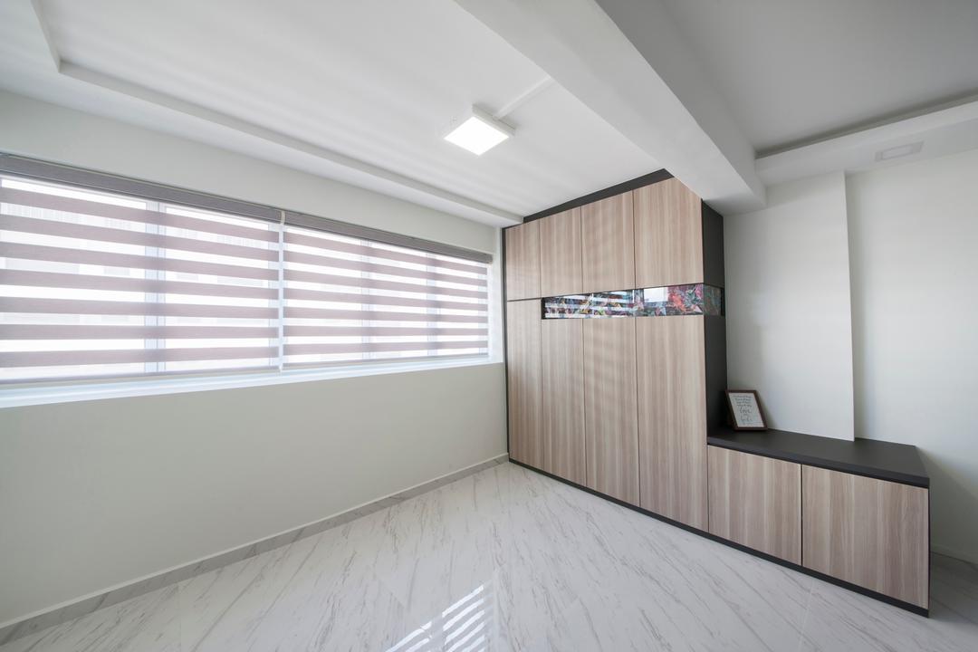 Shunfu Road, Starry Homestead, Modern, HDB, Built In Cupboard, Blinds, Marble Flooring, Ceiling Light, Building, Housing, Indoors, Loft, Bathroom, Interior Design, Room
