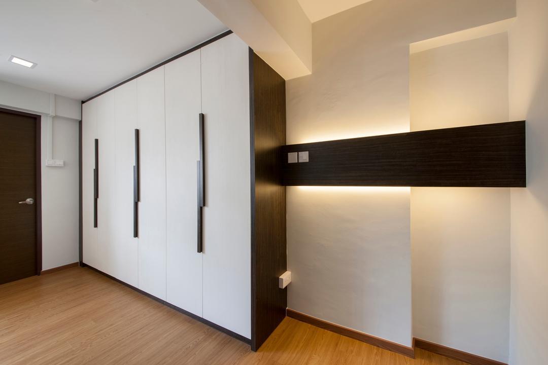 Shunfu Road, Starry Homestead, Modern, Bedroom, HDB, Built In Wardrobe, Wooden Floor, Downlight, Building, Housing, Indoors, Loft