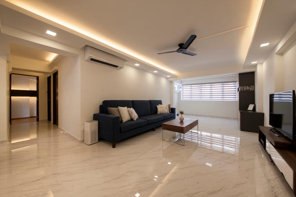 Modern, HDB, Living Room, Shunfu Road, Interior Designer, Starry Homestead, Flooring, Lighting, Building, Housing, Indoors, Loft