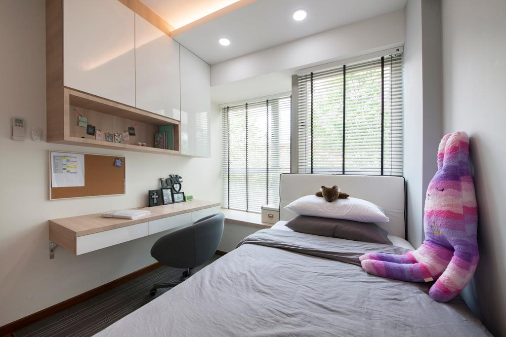 Modern, Condo, Bedroom, The Calrose, Interior Designer, Space Concepts Design, Human, People, Person, Bed, Furniture, Indoors, Interior Design, Room