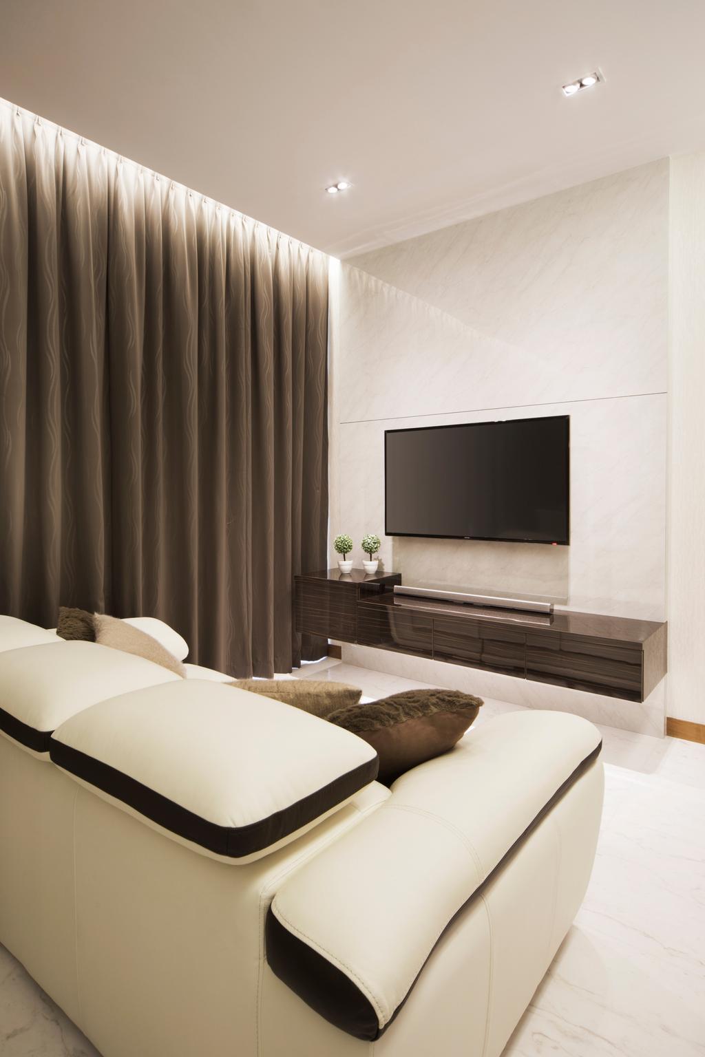 Contemporary, Condo, Living Room, Floridian, Interior Designer, Vegas Interior Design, Curtain, Home Decor, Indoors, Interior Design