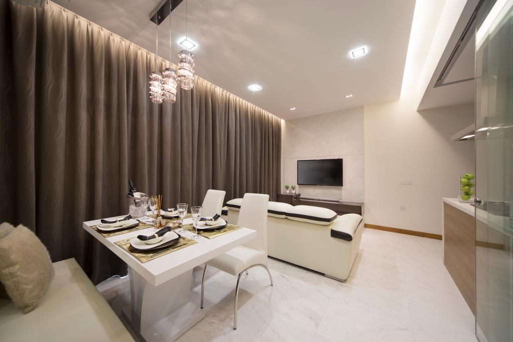 Contemporary, Condo, Dining Room, Floridian, Interior Designer, Vegas Interior Design, Dining Table, Furniture, Table, Indoors, Interior Design, Room, Fireplace, Hearth