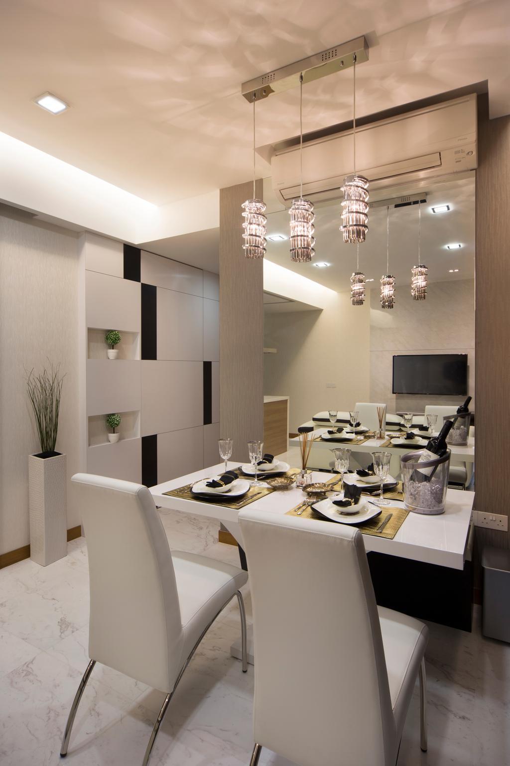 Contemporary, Condo, Dining Room, Floridian, Interior Designer, Vegas Interior Design, Flora, Jar, Plant, Potted Plant, Pottery, Vase, Indoors, Interior Design, Room, Sink